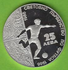 Bulgaria 25 LEWA 1986-Football World Cup 1986/player on the Ball-Silver