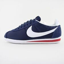 New Mens Nike Classic Cortez Nylon OG Premium Blue Trainers UK 9 876873 400 BNB