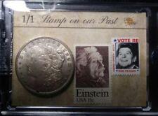 BAR PIECES PAST One Time Edition 1921 Morgan Silver Dollar Einstein Stamp 1/1
