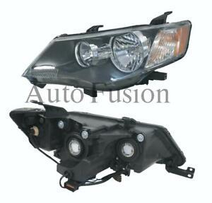 Headlight Pair For Mitsubishi Outlander Zg (2006-2009)