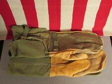 Vintage 1960s US Army Gunners Gloves Mittens Trigger Finger Leather Vietnam era