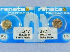 Renata   377  SR626SW  Batteries   Button Cell ,2Pc