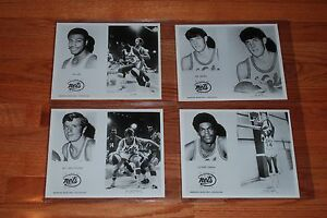 1970-71 NY Nets ABA Team Issued Original B&W Basketball Player Photos-4 diff