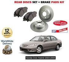 Per HONDA CIVIC 1.3 i IMA ibrida 2003-2006 Freno Posteriore Set Dischi e pastiglie Disc Kit
