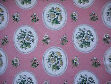 Unused vintage 50's cotton Sanderson floral fabric - white flowers - 1M lengths