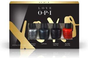 OPI Love XOXO Nail Polish Mini Nail Lacquer Gift Set 4 x 3.75ml Polishes New