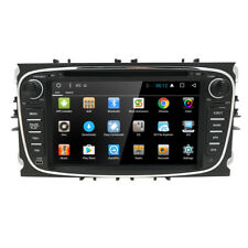 Black Android 7.1 Car DVD Player GPS Navi Radio for Ford Mondeo Focus S-Max