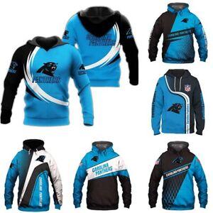 Carolina Panthers Men's Pullover Hoodie Hooded Sweatshirt Casual Jacket Fan Gift