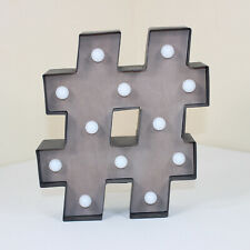 Hashtag Marquee Light Indoor Wall YouTuber Decor