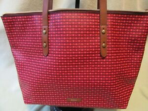 Fossil NWT Jayda Cabernet Faux Leather Lg Zip Tote Bag Very NICE!