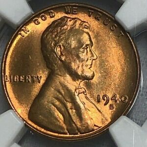 1940 D NGC MS66 RD Lincoln Wheat Cent 1c ~ Cherry Red Lustrous ~ Better Date Gem