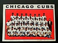 1964 TOPPS #237 CHICAGO CUBS TEAM CARD...Billy Williams, Ron Santo  vintage card