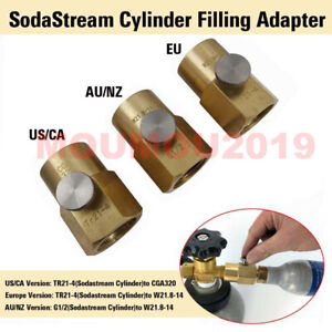 For SodaStream Cylinder Refill Adapter + Bleed Valve + CGA320/W21.8-14 Connector