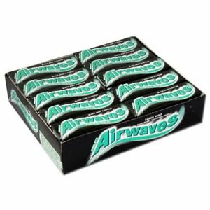 Wrigley's Airwaves Black Mint Menthol Sugar free Gum 30 packs of 10 pieces