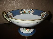 Noritake Hand Painted Flower Compote Nippon Green Mark