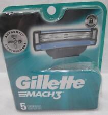 Gillette Mach3 Razor Blade Shaver Cartridges Refills 5 Count Authentic Mach 3