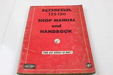 Vintage Honda 125 & 150 Shop Manual and Handbook.