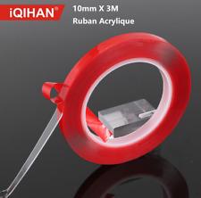 10mm x 3M Ruban Acrylique Adhésif Transparent Double face en Acrylique