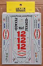 TABU design 1/12 Mclaren M23 full decal sheet TEXACO Tamiya