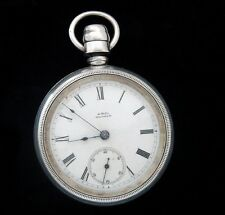 Antique Estate Vintage Sterling A.W.Co. Dustproof Railroad Pocket Watch