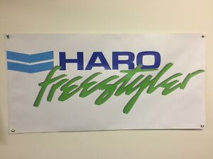 old school bmx haro freestyler green BANNER 2ft X 4ft vdc hutch gt se racing