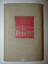 ROMANZO Federigo Tozzi, IL PODERE 1921 Fratelli Treves 4° migliaio in tela