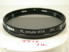 Hama Polfilter Filter Lens Polarizing Polarizer Circular 58mm 58 E58 fil2162(8)
