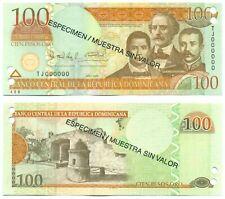DOMINICAN REPUBLIC NOTE 100 PESOS ORO 2009 SPECIMEN P 177s2 UNC