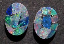 Pair of Australian Mosaic Opal Doublets, ready to be set :)