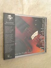 MARK FELDMAN CD MUSIC FOR VIOLIN ALONE TZ7006 1995 JAZZ