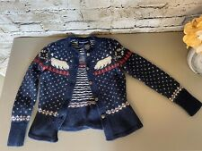 Ralph Lauren Kids 2/2T Wool & Angora Knit Sweater Button Up Polar Bears
