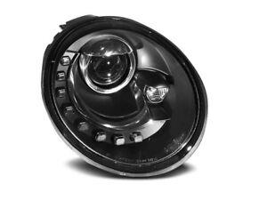 Paire de feux phares VW New Beetle 98-05 Daylight led noir (WL7)