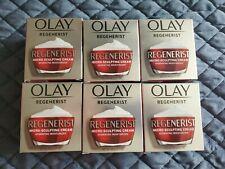Olay REGENERIST Micro Sculpting Cream Moisturizer  1.7oz LOT OF 6 SEALED NEW!!!