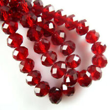 New red Faceted 100pcs Rondelle exquisite crystal 3x2mm Beads*