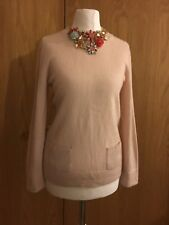 Jaeger Light Pink Pure Cashmere Jumper Sz M 8-10-12