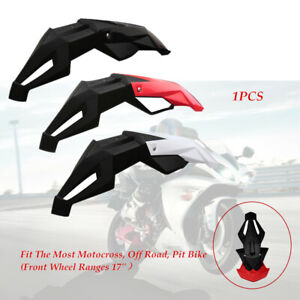 "Motorcycle Dirt Bike Front Fender Mud Pit Mudguard Widen Fit For 17"" Front Wheel"