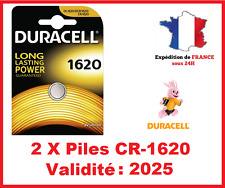 2 Piles CR-1620- DL-1620 DURACELL bouton Lithium 3V DLC 2026