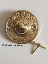 Round Door Bell Antique Mains Wire Vintage Push Button Brass Doorbell  Victorian