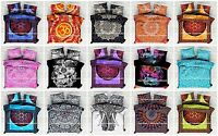 Indian Mandala Hippie Duvet Quilt Cover Bohemian Reversible Bedding Blanket Set