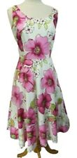 Plaza South Vintage Dress Womens Sz 8 M MD Fit n Flare Summer Floral Midi