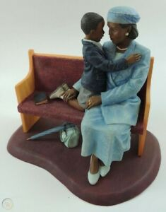 Brenda Joysmith Our Song 'Sanctuary' Church Pew Figurine African-American NIB