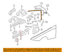 BMW OEM 03-08 Z4 Fender-Support Brace 51717026274