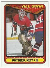 1990-91 TOPPS HOCKEY #198 PATRICK ROY ALL-STAR - NEAR MINT+