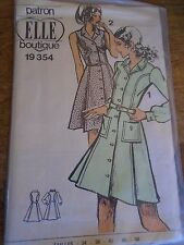 "ANCIEN PATRON ELLE "" 2 VERSIONS ROBE DE PRINTEMPS  T 34 AU 50   ANNEE 1970 NEUF"
