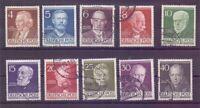 Berlin 1952 - Berühmte Männer MiNr.91/100 rund gestempelt - Michel 50,00 € (824)
