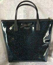Kate Spade New York Tote Bag Purse Bon Shopper Navy Blue Glitter Medium NWOT