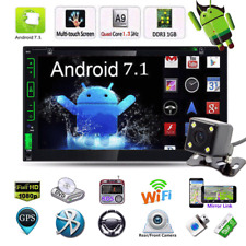 "7"" Android 7.1 Car Radio Stereo MP5 Quad Core 3G WIFI 2DIN Player GPS FM+Camera"