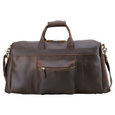Men Large Leather Travel Bag Luggage Suitcase Carry On Messenger Gym Duffle Bag