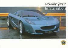 Lotus M250 Concept UK Specification Sheet Circa 1999-2000 In Mint Condition