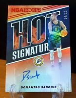 Domantas Sabonis /25 2018-19 Hoops Red Hot Signatures /25 Pacers AUTO SSP